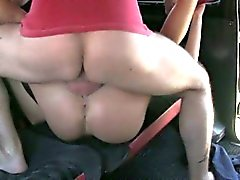 Cute busty amateur stuffed by the driver for a free fare