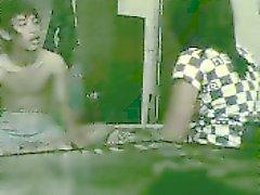 Kiimainen Couple Salaa Äänitys Roommate