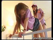 Futanari Waitress Cums on Teen!