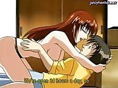 Anime MILF infoga en kuk i fittan