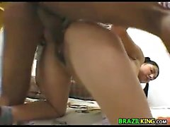 Brazilian Riding On A Cock Up Her Butt