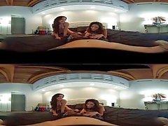 VR Stereoscopic 360 - Jennifer White & Dava Foxxx Share A Cock In VR
