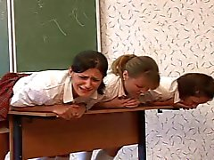 3 russian schoolgirls caned