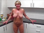 cucina Nudo di Full Torna Knicker wipe giù