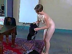 Frischem Fleisch Mädchen hängt