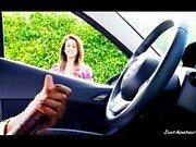 BBC dick Flash-Mädchen schwarze Kerl gerade im Auto masturbiert