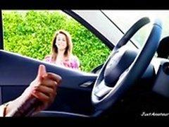 Би-би- Dick флеш девушка смотреть чернокожего парня мастурбацией в машине