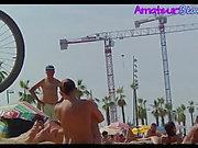 Amatör Çıplak Plaj Voyeur Spy Video