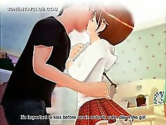 Innocente ma puce d'anime de affichant sous-vêtements upskirt