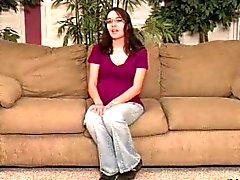 Hot Girl N140 беременна анальный брюнетка подросток очков и dildoo