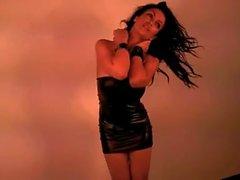 Denise Milani au Le latex Robe - sans nue