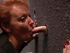 Redheaded Milf at the Gloryhole
