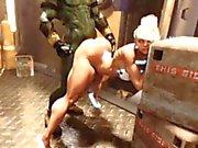 3D monster Destroying Hjälplösa flickor!