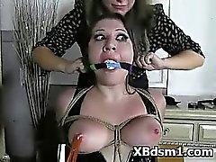 Kinky Mädchen BDSM Rollenspiel und verhauen