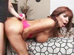 Horny cougar enjoys the cock of her young friend