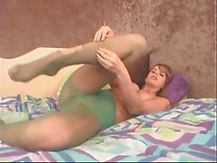 Ashton Gray ripping her pantyhose