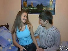 Legal age teenager beautiful bitch gets screwed hard