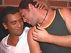 Gay lads get horny and arrange anal job at a party