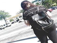 große Beute spanisches Mädchen in schwarzen Strumpfhosen pt 1