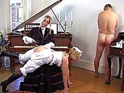 Malikâne lüks Bayan avcı kırpma ile bir köle atar