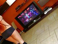 Ashley Bulgari playing kinect
