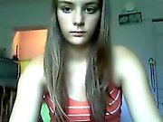Hot teen with great body strips