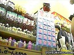 Japanische Mädchen Nahaufnahme Schlüpfer Pursuit