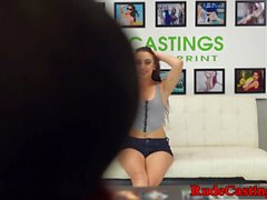 Casting teen assfucked while tiedup