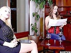 Hot Busty Buffy interviewed by Angel Wicky