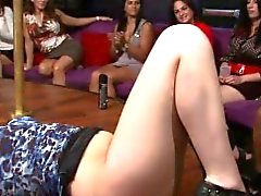 Glam partying amateur licked and fingered