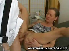 Mature amateur wife goes for a checkup and gets banged for creampie