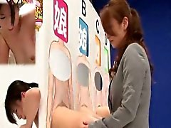 Subtitled ENF Japanese lesbian dildo guessing game