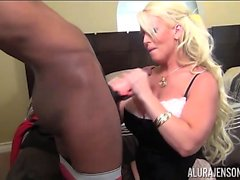 Big Tit Alura Jenson Sucks Big Black Cock