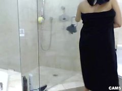 Abella Anderson Camgirl Bubble Bath, Shower and Blowjob LIVE