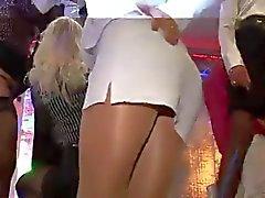 Sukkahousut upskirt klubien