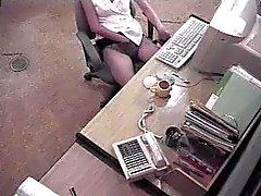 Japanse secretaresse betrapt