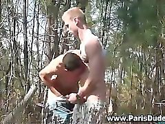 French gays fuck and cumshot