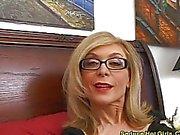 Blonde sur chaude aspirée disque