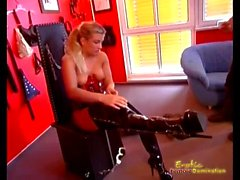 Hars Mistresses Play With Slave's Balls Strength