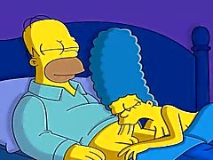 Tecknad film Porn Simpsons Porr spionkamera , webcam mom samt pappa