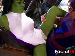 Green Superhero Getting Fucked Hard