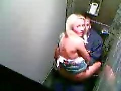 another young couple shagging in a club toilet