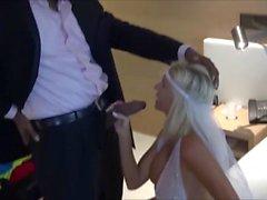 Noiva com tesão com grandes mamas tem sexo interracial com garanhão