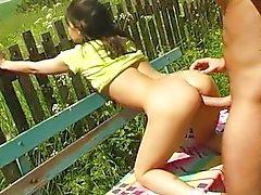 Da menina foder no banco de da aldeia