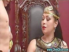 Cfnm egípcio cadela rainha e as meninas seu servo