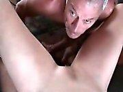 Cum eating cuckold eats wifes creampie