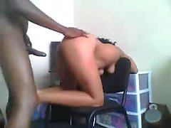 Ebony having a shapely bottom gets fucked