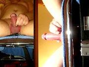 Masturbating med min prostata vibrator visar i 2 änglarnas , droppade och sperma.