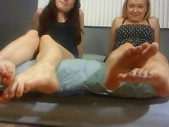 May and Becky's feet