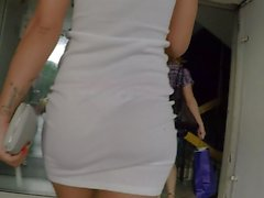 See-Through Skirt Shows Her Thong For The World To See